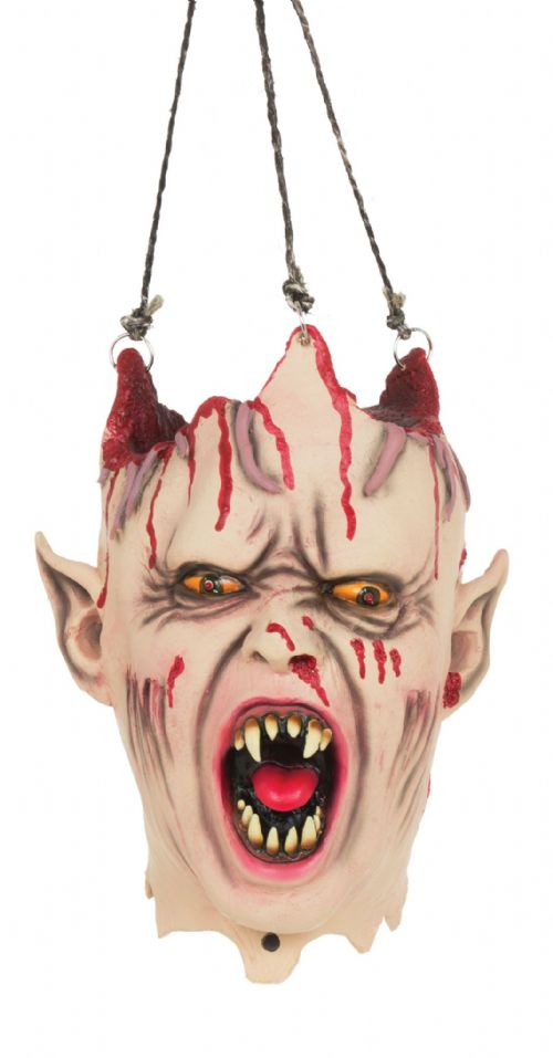Halloween Vampire Hanging Head Sound + Light Trick Or Treat Party Decoration